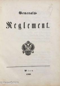 1769 Maria Theresia - Generalsreglement 1